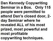 Dan Kennedy Copywriting Seminar in a Box on CDROM