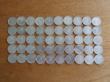 Nazi German Silver 2 Reichsmark Coins--Lot of 50-Circulated Condition