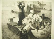 Gravure d'Henri Lefort: Ludwig DEUTSCH (1855-1935) Le Caire Egypte Orientalisme