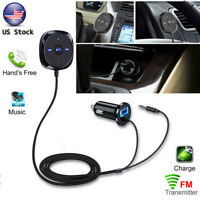 Wireless Car FM Transmitter Radio Adapter USB Charger AUX Mp3 Player Handsfree