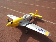 Unique 1.2M P51 Mustang Fighter KIT RC Model Propellers Plane Yellow W/O Battery