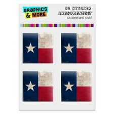 Rustic Texas State Flag Distressed USA Computer Case Modding Badge Stickers Set