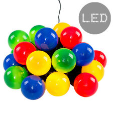 20x Multi Coloured Chain String Lights Indoor / Outdoor Garden Party Lighting