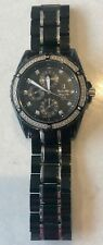 Bulova Men's 98D107 Marine Star 100M Diamond Accents Black Stainless Steel Watch
