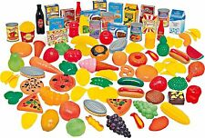 114 Piece Plastic Toy Play Food Fruit Vegetable Cakes Grocer Shop Role Play Set