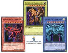 YUGIOH EGYPTIAN GOD CARDS SET SLIFER RA OBELISK Ultra Rare Limited Edition YGLD