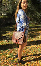 Cross body Saddle Bag brown Leather,bags, purses,Purse CrossBody Purse leather