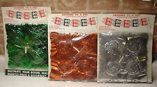VINTAGE 3 NOS. FOIL OUT CHRISTMAS GARLAND DECORATION HANG ACROSS CEILING