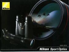 NIKON brochure pub. SPORT OPTICS jumelles, longues-vues   06/2009 en français