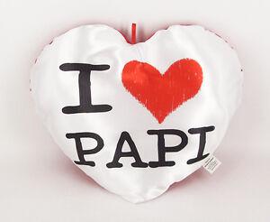 Papà - Cuscino Peluche Cuore 35 x 30 I love Papi - Rimini Gadget