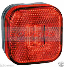 12V/24V SQUARE RED LED REAR MARKER/POSITION LAMP/LIGHT TRUCK LORRY TRAILER VAN