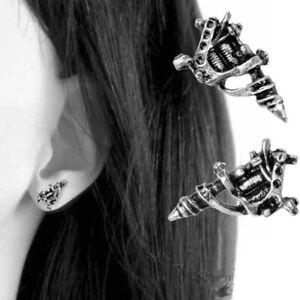 Alchemy Gothic UL13 Tattoo Machine Studs Alt Metal Punk Earrings Pewter Unisex