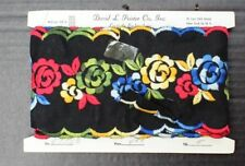 Vtg 1960's Retro Floral Clothing Fabric Trimming Bindings Sewing 4 Yards