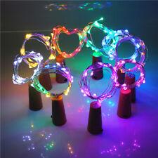RGB Wine Bottle Cork Fairy String LED Lights Wedding Christmas Party Decor 10pcs
