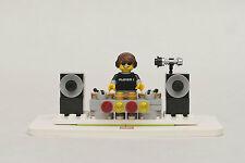 Lego Custom DJ w/ Stage - Turntables & Speakers - Made with Genuine Legos