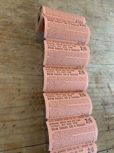 Montague Burton Gala Hill Climb 1968 Roll Of Tickets