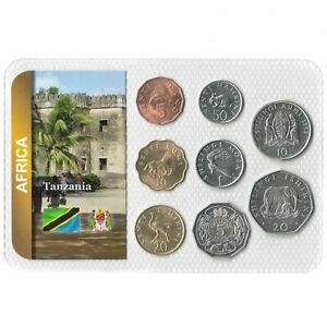8 COINS FROM TANZANIA. 1966-1993. UNC 5 SENTI - 20 SHILINGI