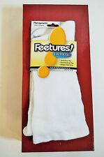 Feetures Socks Therepeutic Light Cushion Crew L Large White M 9-12 W 10-13