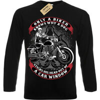Only A Biker T-Shirt funny motorcycle motorbike Mens Long Sleeve