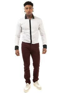RRP €130 VI.E SIX EDGES Flannel Chino Trousers Size 33 Two Tone Side Straps