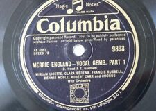 "78rpm 12"" MERRIE ENGLAND vocal gems , edward german columbia 9893"