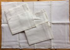 Vintage 50s Egyptian Cotton Pillowcases 1 x Pair Irish Quality Linen Unused