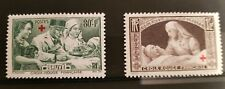 TIMBRES CROIX ROUGE 1940, 2 timbres Neufs France n°459 & 460 Gomme d'origine