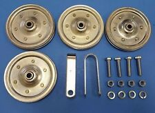 "NEW Garage Door Extension Spring 4"" Pulley Replacement Kit Pulleys FREE SHIPPING"