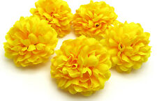 Yellow color 30pcs Chrysanthemum Ball Artificial Flowers Home Decor Dia 1.96""