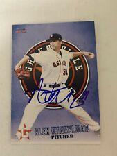 Alex Winkelman 2015 Signed Greeneville Astros Team Card