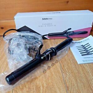 Babylis Pro Hair Curler Ceramic Dial-A-Heat 32 Large Barrel Stylist Tool Curls