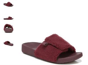 Vionic Keira Port Faux Fur Slide Slipper Sandal Women's sizes 5-12 NEW!!!