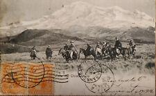 L) 1916 ECUADOR, ROCA, ORANGE, 1C, CHIMBORAZO VIEW, HORSE, PEOPLE, AIRMAIL, POST