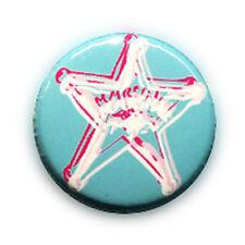Badge ESTRELLA MARSHALL SHERIF TURQUESA étoile sheriff cowboy country pin Ø25mm.