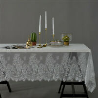 Black White Vintage Lace Tablecloth Wedding Party Festival Table Runner Decors