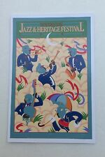 LOT (6) NEW 1982 NEW ORLEANS JAZZ HERITAGE FESTIVAL FEST  POSTER CARD POSTCARDS