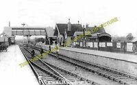 Norton Fitzwarren Railway Station Photo. Taunton to Wellington & Milverton Lines