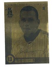 2003 ALEX RODRIGUEZ MERRICK MINT LASERLINE GOLD CARD