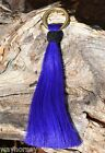 "Bright 6"" Horsehair Shu-Fly Tassels 1"" Brass Ring - Lime Purple Orange Turquoise"