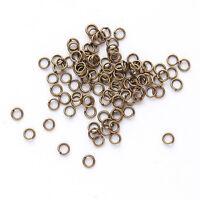 3000x Wholesale Antique Bronze Jump Rings Split Ring Findings 4mm 160323