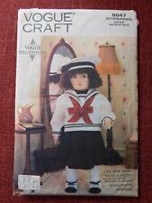 "Vogue Craft Pattern 8647 Linda Carr 18"" Doll & Sailor Dress Waldorf-style CUT"