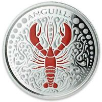 2018 1 oz Anguilla Lobster .999 Silver Coin - PROOF Color Coin #A478