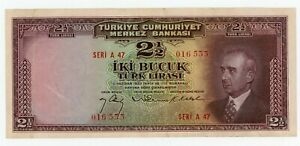 Turkey ... P-140 ... 2 1/2 Lirasi ... L.1930 (1947) ... Choice *VF-XF*