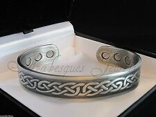 MEDIUM BIO MAGNETIC CELTIC COPPER TORQUE BANGLE/BRACELET ARTHRITIS/PAIN RELIEF