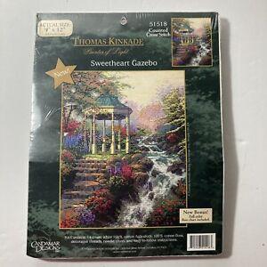 CANDAMAR Counted Cross Stitch Kit #51518 SWEETHEART GAZEBO THOMAS KINKADE 2004