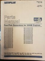 Four-Pole Generators Parts Book Manual Catalog for 3500B Engines Caterpillar