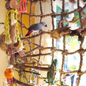 Papagei Spielzeug Vogel Papageienspielzeug Hanfseil Kletternetz Hängematte Toy