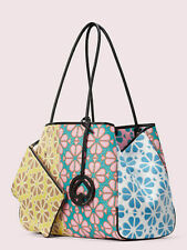 Kate Spade EVERYTHING SPADE Flower Large Tote Bag/Pouch Yellow-Multi SOLD OUT!