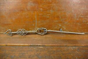 Vintage Cast Iron Heart Shaped Weathervane Arrow - For Running Horse