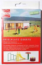 H0 BUSCH Spielplatz Geräte Rutschbahn Pilzkarussel Kreiselkarussel Reck # 1163